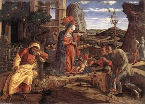 Andrea Mantegna - The Adoration of the Shep..