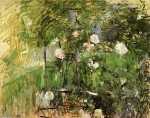 Berthe Morisot - A Corner of the Rose Gard..