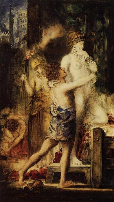 Messalina, Watercolour by Gustave Moreau (1826-1898, France)