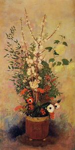 Odilon Redon - Vase of Flowers with Bran..