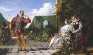 Daniel Maclise - Scene from `Twelfth Night- (`Malvolio and the Countess-)