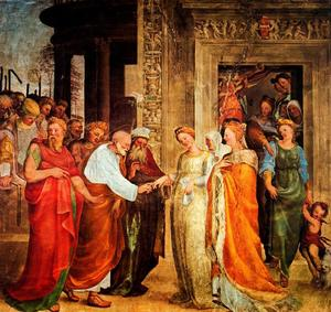 Domenico Di Pace Beccafum.. - Marriage of the Virgin