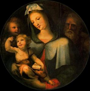 Domenico Di Pace Beccafum.. - The Holy Family with the ..
