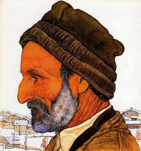 Ernest Bieler - The Man in fur cap