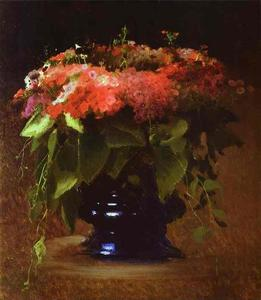 Ivan Nikolaevich Kramskoy - Bunch of Flowers. Phloxes