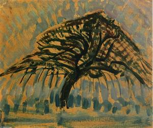 Piet Mondrian - Study for Blue Apple Tree..