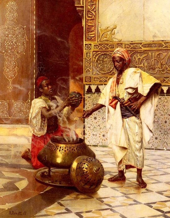 In The Alhambra by Rudolph Ernst (1854-1932, Austria) | Oil Painting | ArtsDot.com