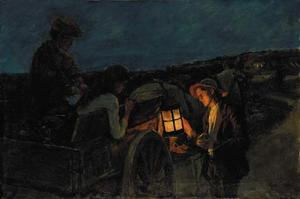 Stanhope Alexander Forbes - Study for Lighting up Tim..