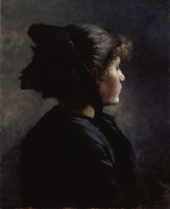 Munich Girl by Theodore Clement Steele (1847-1926, United States) | Oil Painting | ArtsDot.com