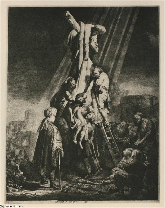 El Descendimiento De La Cruz 1633 De Rembrandt Van Rijn 1606 1669 Netherlands Reproducciones De