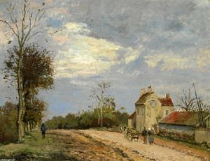 Camille Pissarro - The House of Monsieur Mus..