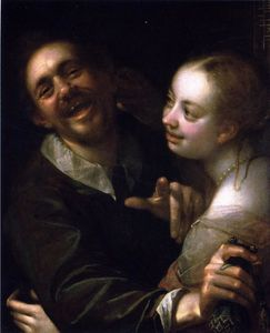 Hans Von Aachen - Laughing Couple with a Mo..