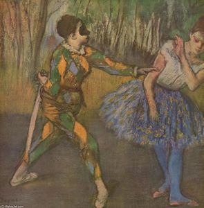 Edgar Degas - Harlequin and Colombina