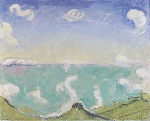 Ferdinand Hodler - Landscape at Caux with in..