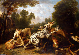 Frans Snyders - Dogs fighting