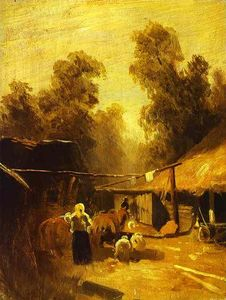 Fyodor Alexandrovich Vasi.. - Morning in a Village