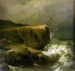 Fyodor Alexandrovich Vasi.. - Tide near the Shore of th..