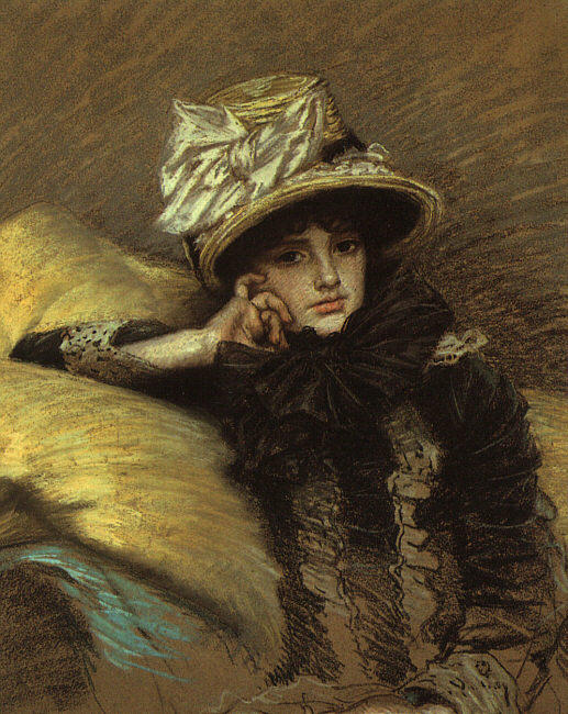 Berthe, 1882 by James Jacques Joseph Tissot (1836-1902, France) | Art Reproduction | ArtsDot.com