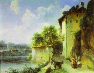 Mikhail Lebedev - View of Albano, near Rome