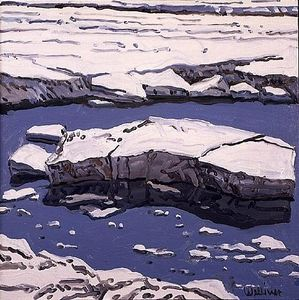 Neil Gavin Welliver - Study for Ice Flow, Allag..