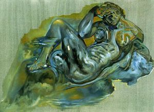 Salvador Dali - Untitled (After -The Night- by Michelangelo)