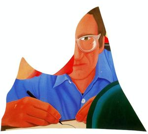 Tom Wesselmann - Self-portrait drawing