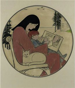 Will Barnet - Mother and child reading