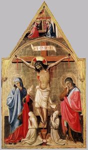 Biagio D'antonio Da Firen.. - Crucifixion with Mary and..