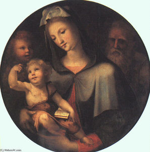 Domenico Di Pace Beccafum.. - The Holy Family with Youn..
