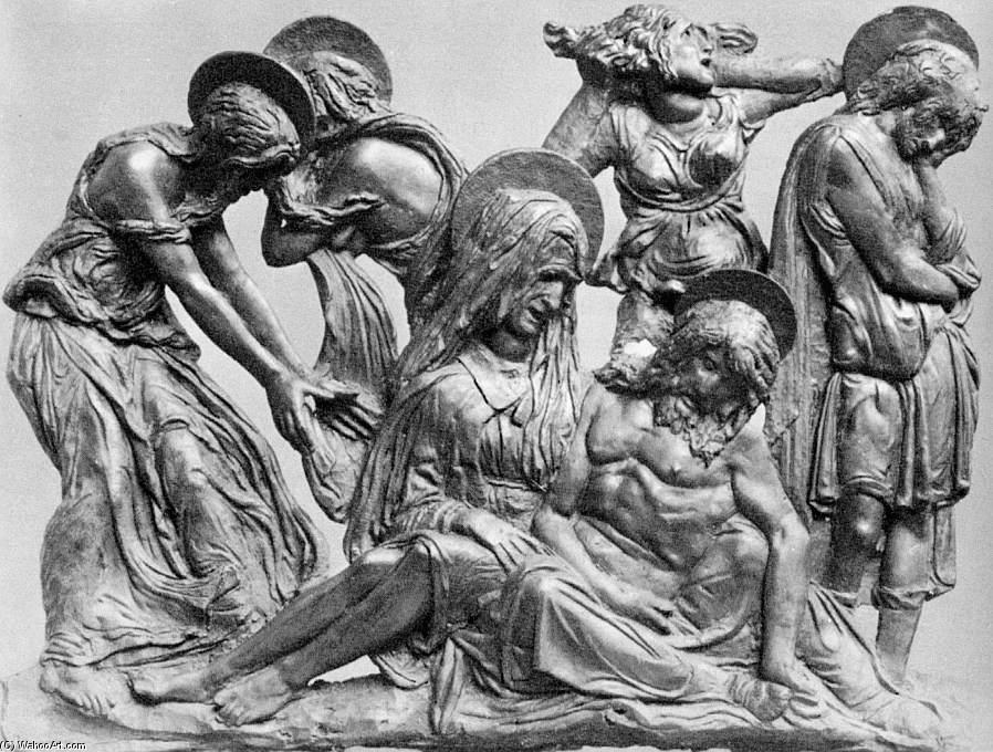 Lamentation over the Dead Christ by Donatello (1386-1466, Italy) | Museum Quality Reproductions | ArtsDot.com