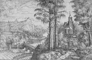 Hans Sebald Lautensack - View of a Town along the ..