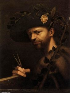 Giovan Paolo Lomazzo - Self-Portrait as Abbot of..