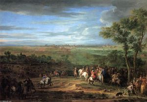 Adam Frans Van Der Meulen - Louis XIV Arriving in the..