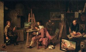 David The Younger Ryckaer.. - Painter's Studio