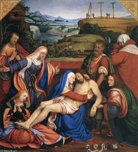 Andrea Solario - Lamentation over the Dead..