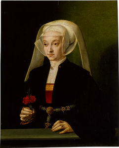 Barthel Bruyn The Elder - Portrait of a Young Woman