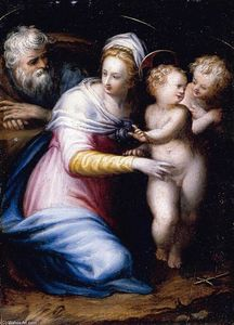 Prospero Fontana - Holy Family with the Infa..