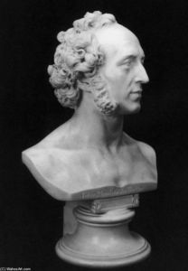 Ernest Friedrich August R.. - Bust of Felix Mendelssohn..