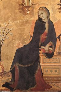 Simone Martini - The Annunciation and Two ..