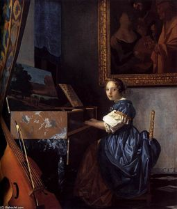 Jan Vermeer - Lady Seated at a Virginal