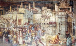 Benedetto Bonfigli - Burial of St Ercolano out..