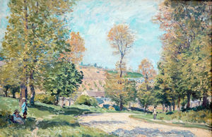 Alfred Sisley - Road to Louveciennes