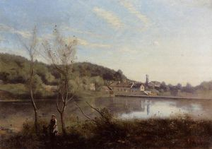 Jean Baptiste Camille Corot - Ville d'Avray, the Large Pond ..