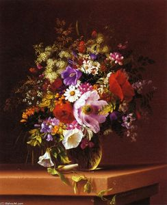 Adelheid Dietrich - Wildflowers in a Glass Va..