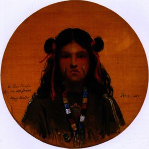 Henry Mosler - Young Indian Woman (also ..