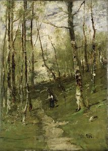 Mihaly Munkacsy - In The Barbizon Woods