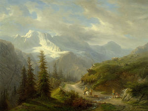 Francois Diday - View From Murren To The E..