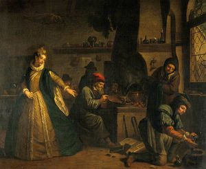 Jan Josef Horemans The El.. - A Lady Visiting An Alchem..