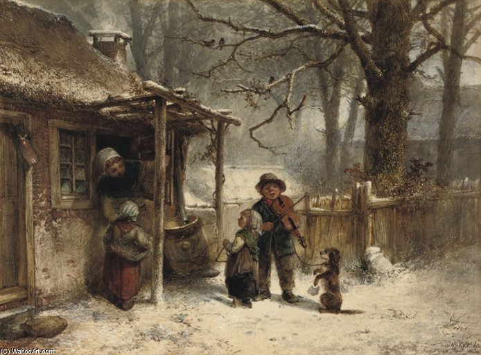 Little Musicians by Johan Mari Henri Ten Kate (1859-1896, Netherlands) | Art Reproduction | ArtsDot.com
