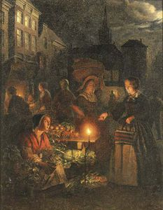 Johannes Rosierse - The Market Stall By Lampl..